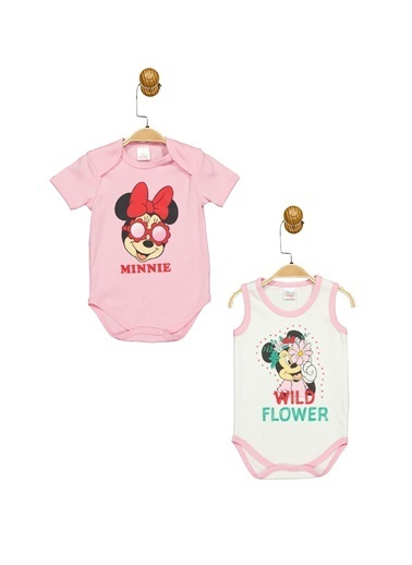 Minnie Mouse Lisanslı Bebek 2'Li Body 17331 Pembe
